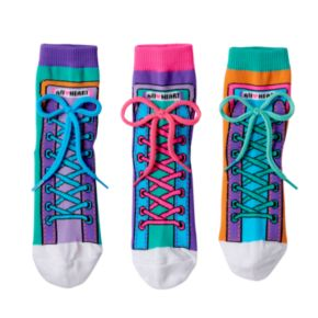 Girls 4-9 Little Miss Matched 3-pk. Colorblock Sneaker Anklet Socks