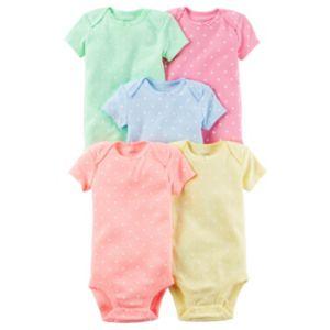 Baby Girl Carter's 5-pk. Polka-Dot Bodysuits