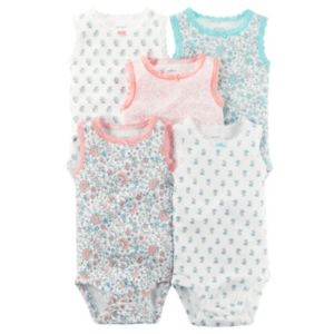 Baby Girl Carter's 5-pk. Floral Bodysuits