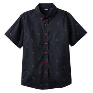 Boys 8-20 Star Wars Light Saber Button-Down Shirt