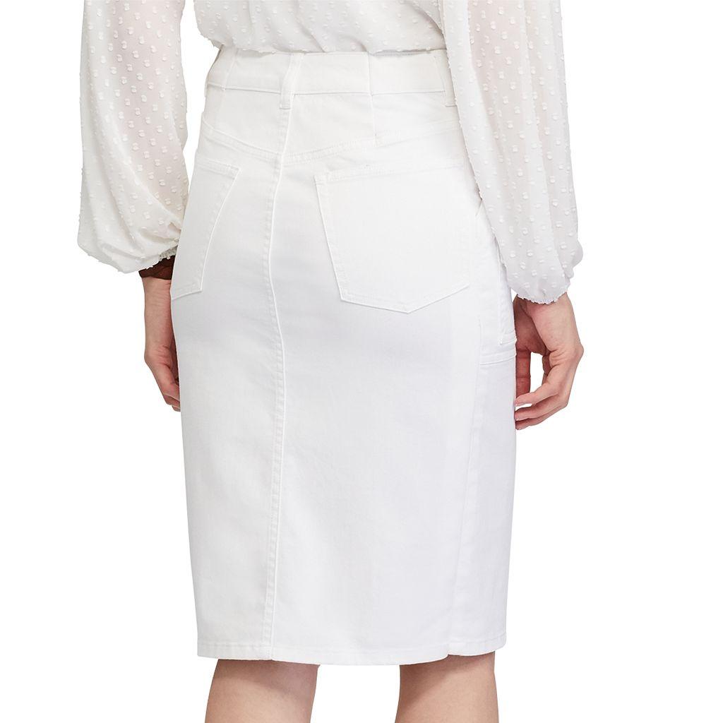Petite Chaps Jean Pencil Skirt