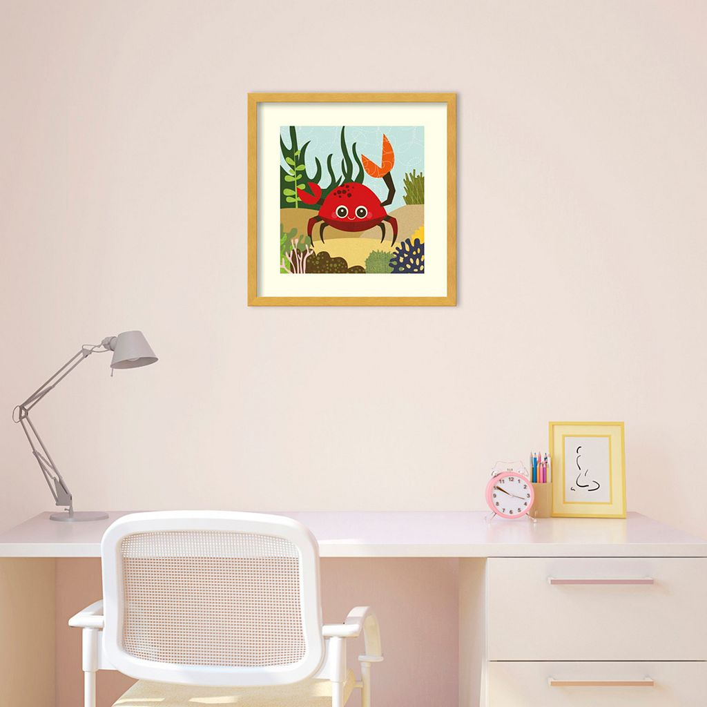 Carla Crab Framed Wall Art