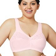 Glamorise Bras: Cotton Lace Full-Coverage Full-Figure Bra 1001