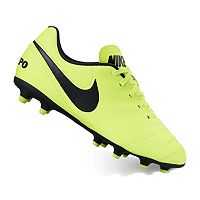 Nike Jr. Tiempo Rio III Firm-Ground Boys' Soccer Cleats