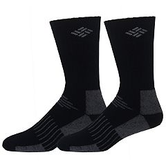 Men's Columbia 2-pack Crossover Wool-Blend Cushioned Crew Socks