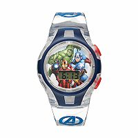 Marvel The Avengers Captain America, Iron Man & Hulk Kids' Digital Light-Up Watch