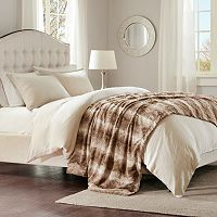 Madison Park Marselle Faux Fur Oversized Bed Throw