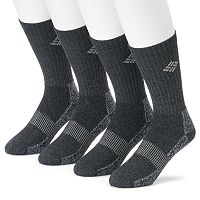 Men's Columbia 4-pack Moisture-Control Ribbed Crew Socks