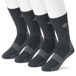 Men's Columbia 4-pack Moisture-Control Ribbed Crew Socks