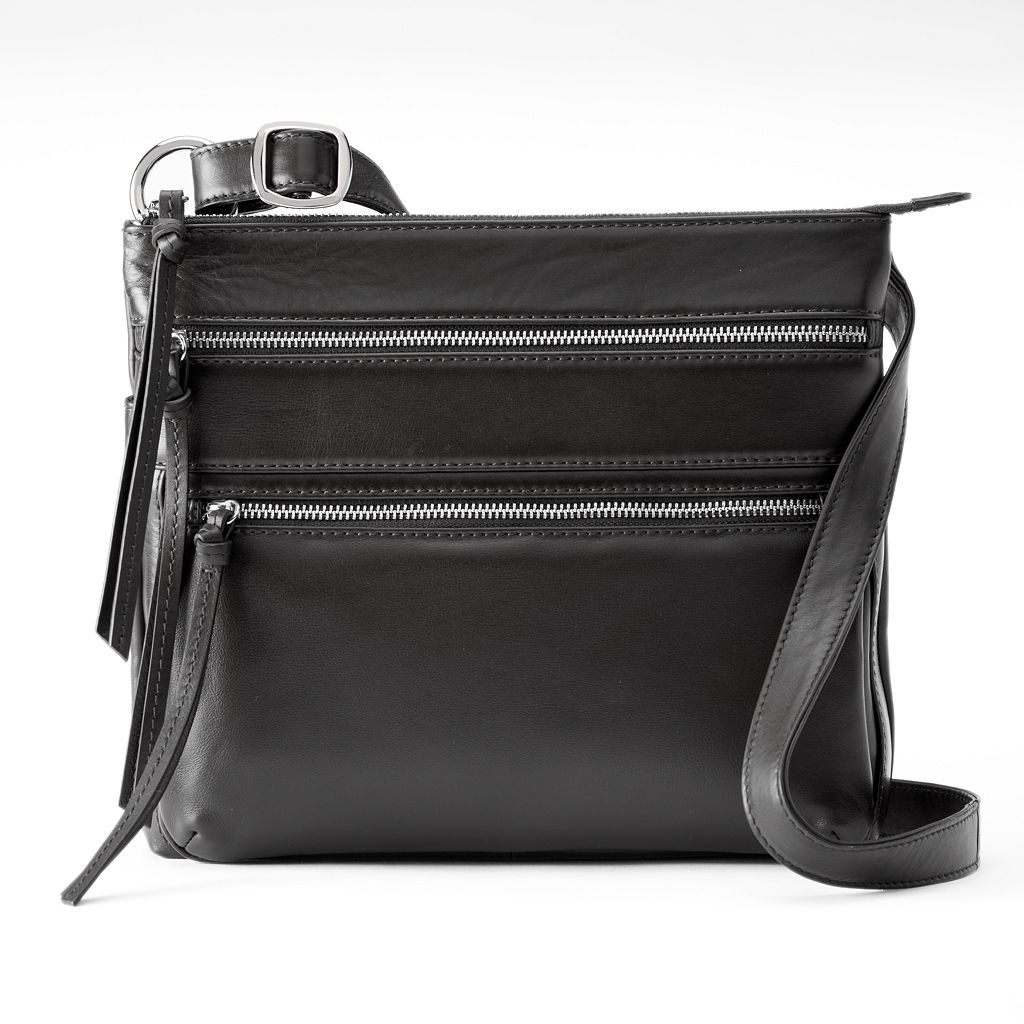 ili Triple Entry Leather Crossbody Bag