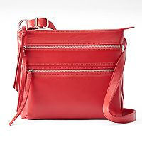 ili Triple Entry Leather Crossbody Bag