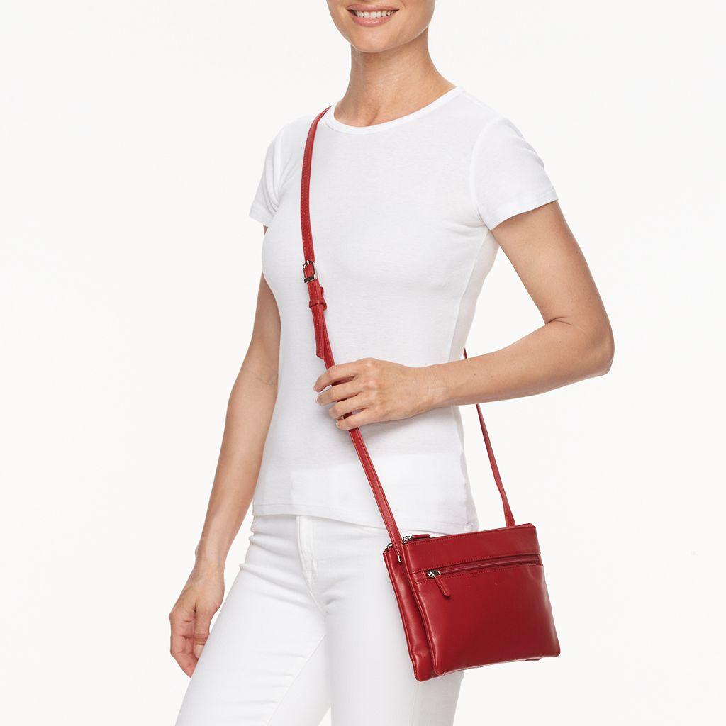 ili Double Entry Leather Crossbody Bag