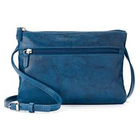 ili Double Entry Leather Crossbody Bag
