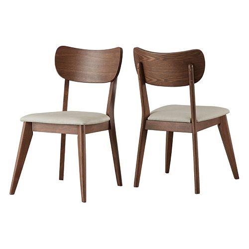 HomeVance Skagen Upholstered Dining Chair 2-piece Set