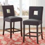 HomeVance Roxton Keyhole Counter Stool 2-piece Set