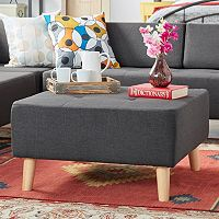 HomeVance Palos Button Tufted Ottoman