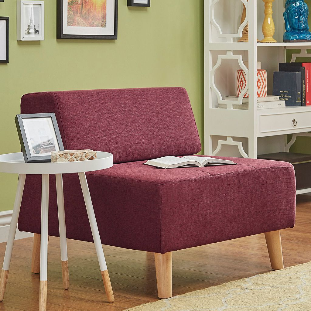 HomeVance Palos Tufted Armless Accent Chair