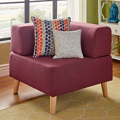 HomeVance Palos Tufted Corner Accent Chair