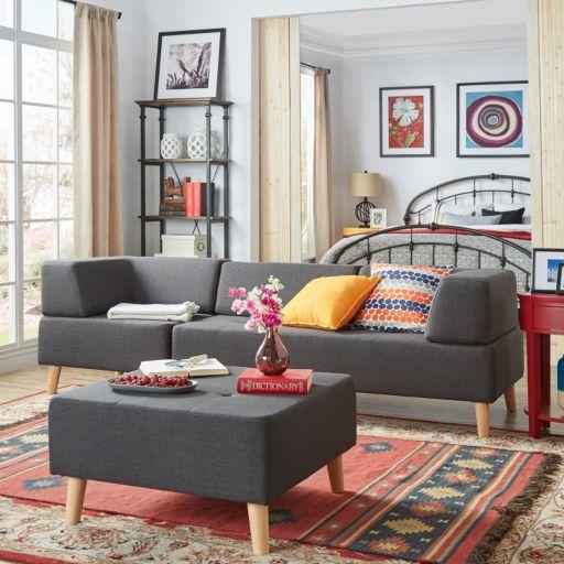 HomeVance Palos Tufted Sofa