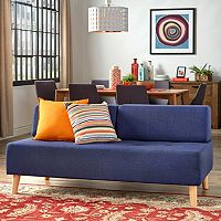 HomeVance Palos Tufted Armless Loveseat