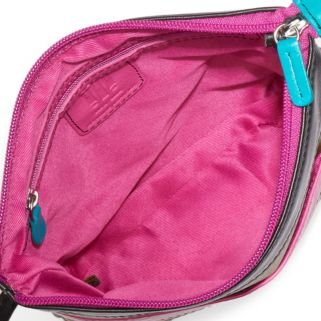 ili Striped Leather Crossbody Bag