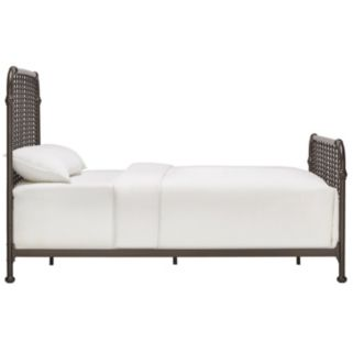 HomeVance Patton Spindle Metal Bed