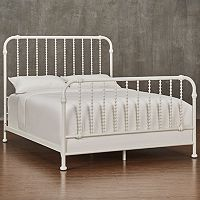HomeVance Patton White Spindle Metal Bed