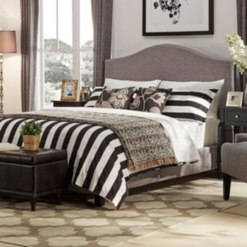 HomeVance Lakeview Camelback Linen Bed