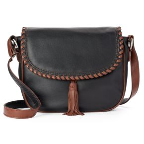 ili Whipstitch Leather Saddle Bag