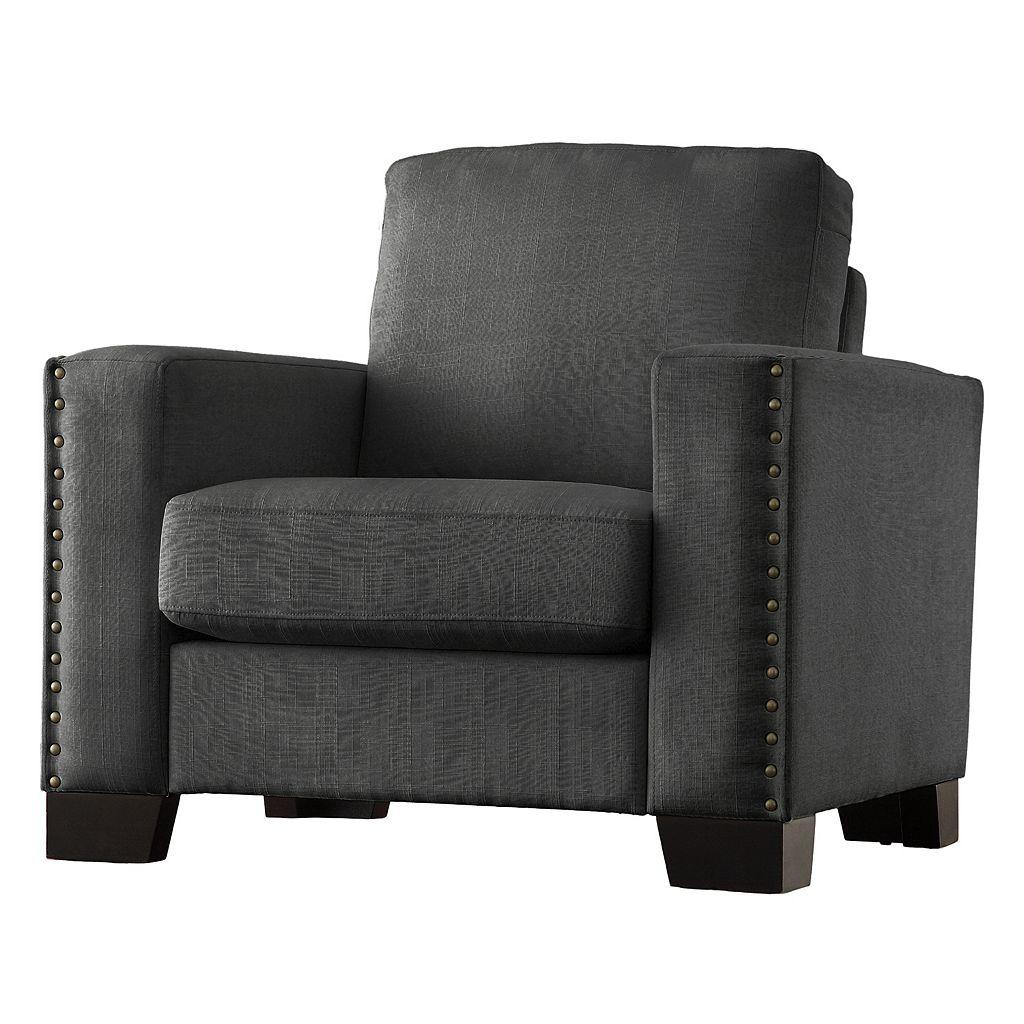 HomeVance Caldwell Nailhead Arm Chair