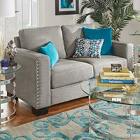 HomeVance Caldwell Nailhead Loveseat