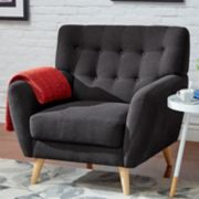 HomeVance Peralta Button Tufted Arm Chair