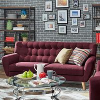 HomeVance Peralta Button Tufted Sofa
