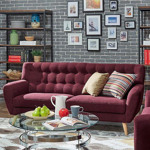 HomeVance Peralta Button Tufted Sofa