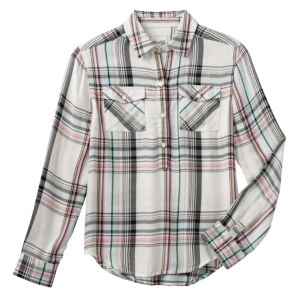 Girls 7-16 Mudd® Patterned High-Low Popover Shirt
