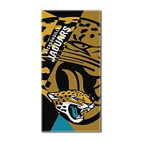 Jacksonville Jaguars Puzzle Oversize Beach Towel by Northwest