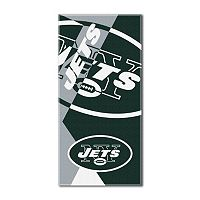 New York Jets Puzzle Oversize Beach Towel by Northwest