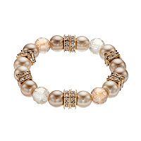 Square Rondelle Beaded Stretch Bracelet