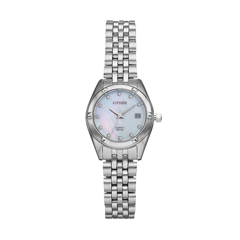 Citizen Women's Crystal Stainless Steel Watch - EU6050-59D