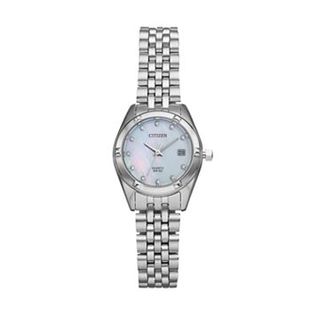 Citizen Women's Crystal Stainless Steel Watch - EU6050-59D