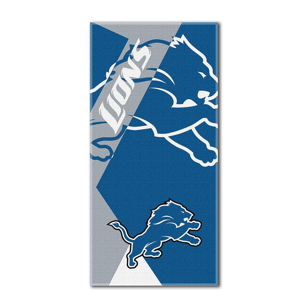 Detroit Lions Puzzle Oversize Beach Towel by Northwest