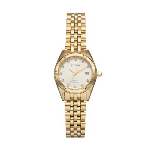 Citizen Women's Crystal Stainless Steel Watch - EU6052-53P