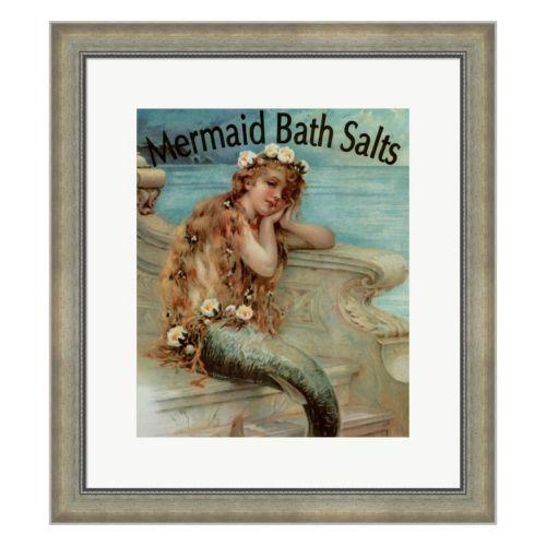 Metaverse Art Mermaid Bath Salts Framed Wall Art