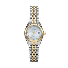 Citizen Women's Crystal Two Tone Stainless Steel Watch - EU6054-58D