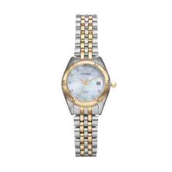 Citizen Women's Crystal Two Tone Stainless Steel Watch - EU6054-58D