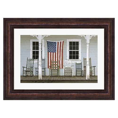 Metaverse Art Chair Family With Flag Framed Wall Art