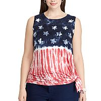 Plus Size Chaps Tie-Dye Flag Graphic Tank