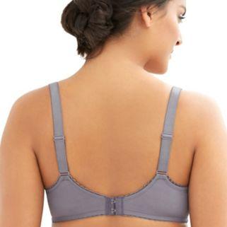 Glamorise Bras: Elegance Lace Full-Coverage Full-Figure Bra 9845