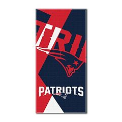 New England Patriots Puzzle Oversize Beach Towel by Northwest