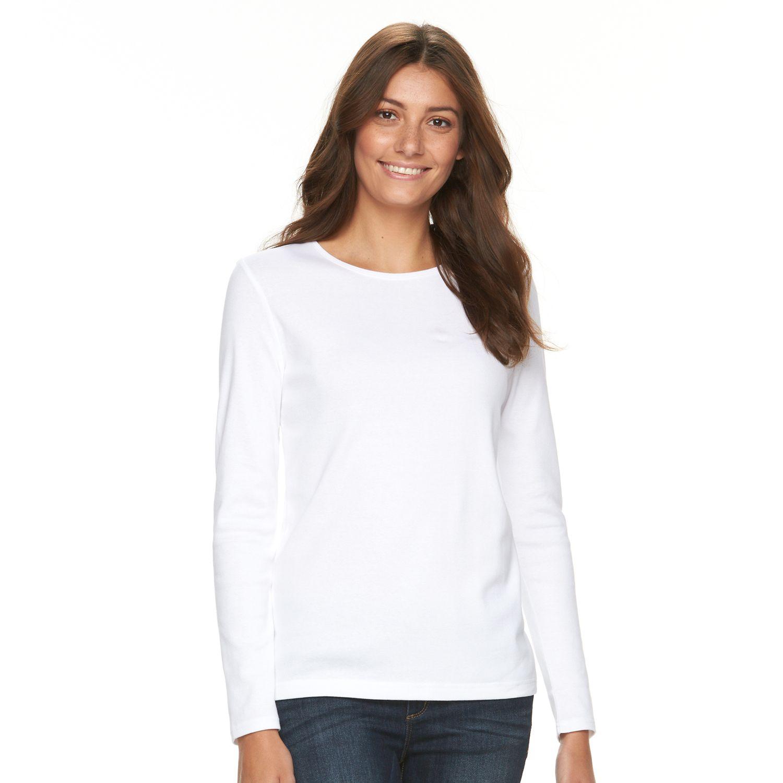 Womens Croft & Barrow? Ribbed Mock-Layer Sweater